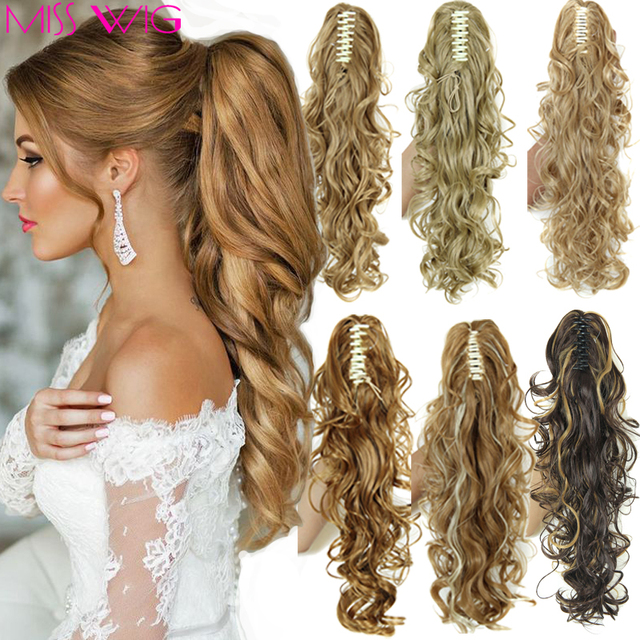 Curly Ponytail Extension 200g Synthetic Fake Ponytails 20 Claw