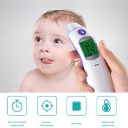 2 в 1 Цифровой Инфракрасный бесконтактный температура метр лоб младенческой электронный средства ухода за кожей объект термометр