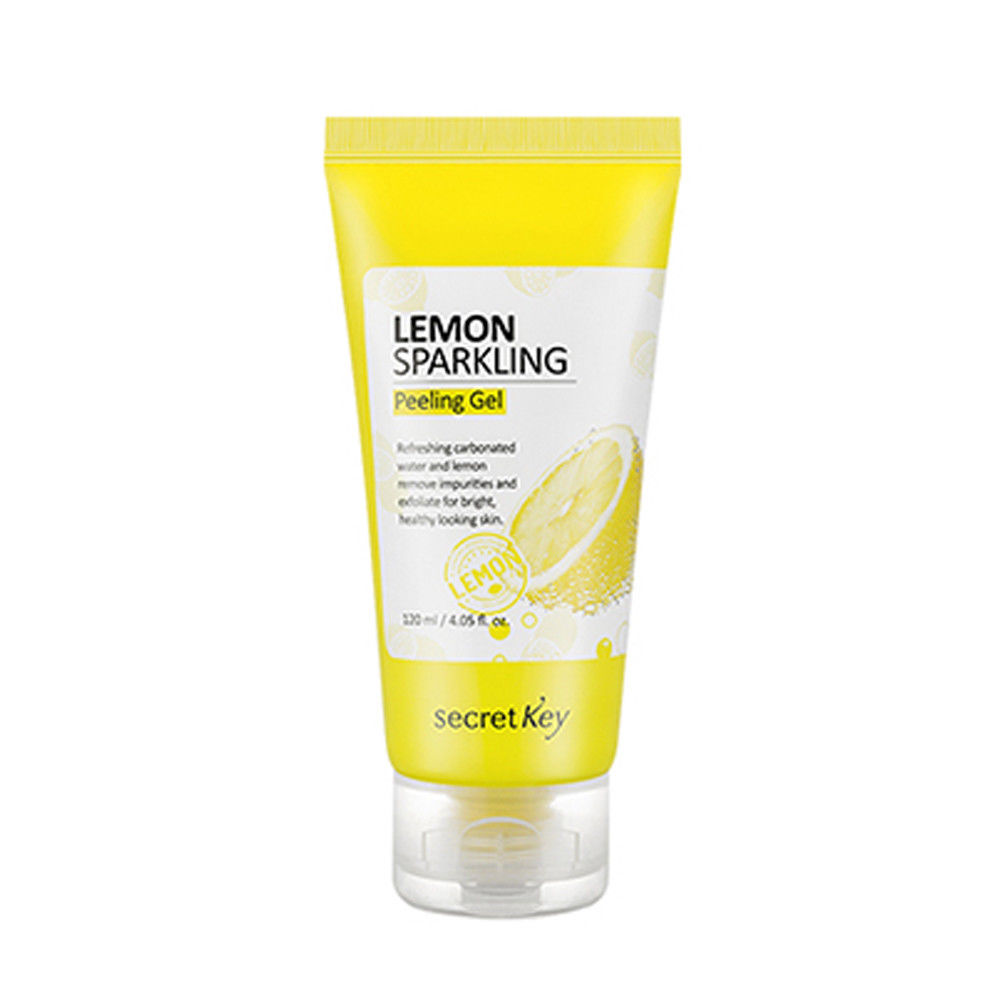 SECRET KEY Lemon Sparkling Peeling Gel 120ml Face Cleanse Exfoliating Scale Deep Clean Facial Scrub Cleanser Best Korea Cosmetic