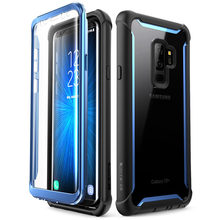 For Samsung Galaxy S9 Plus Case 2018 Release i Blason Ares Full Body Rugged Clear Bumper Case with Built in Screen Protector