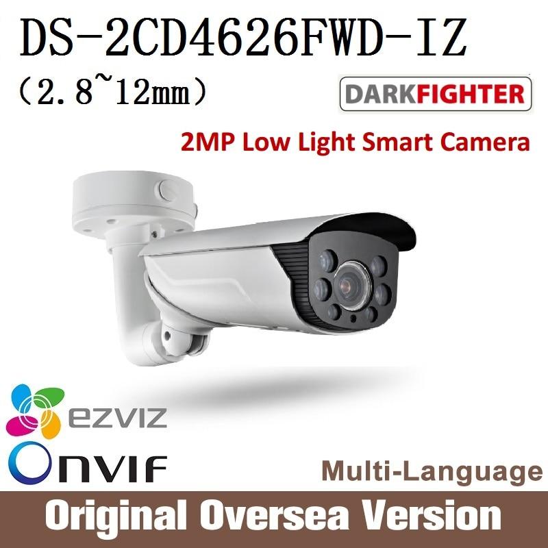 HIKVISION  Ip 2MP camera DS-2CD4626FWD-IZ 2.8-12mm IR Cctv Bullet 1080p Poe Ip66 English Version H265 WDR Onvif RJ45 darkfghter hikvision ds 2cd4a25fwd iz 2mp smart ip camera cctv bullet 1080p poe ip67 ir english version h265 wdr onvif rj45 lightfighter