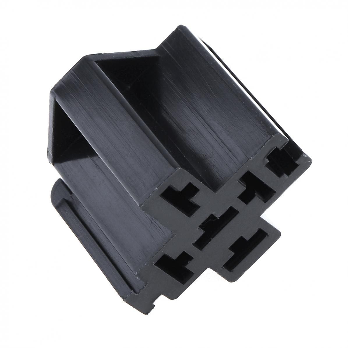 Black 1 Set 5a 5w 63mm Car Auto Vehicle 5 Pin Relay Socket Holder Prong Pigtail With
