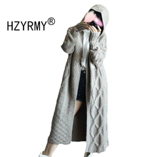HZYRMY Autumn Winter New Women Cashmere Coat Fashion Hooded Collar Solid Color High Quality Loose Jacket Long Wool Soft Cardigan