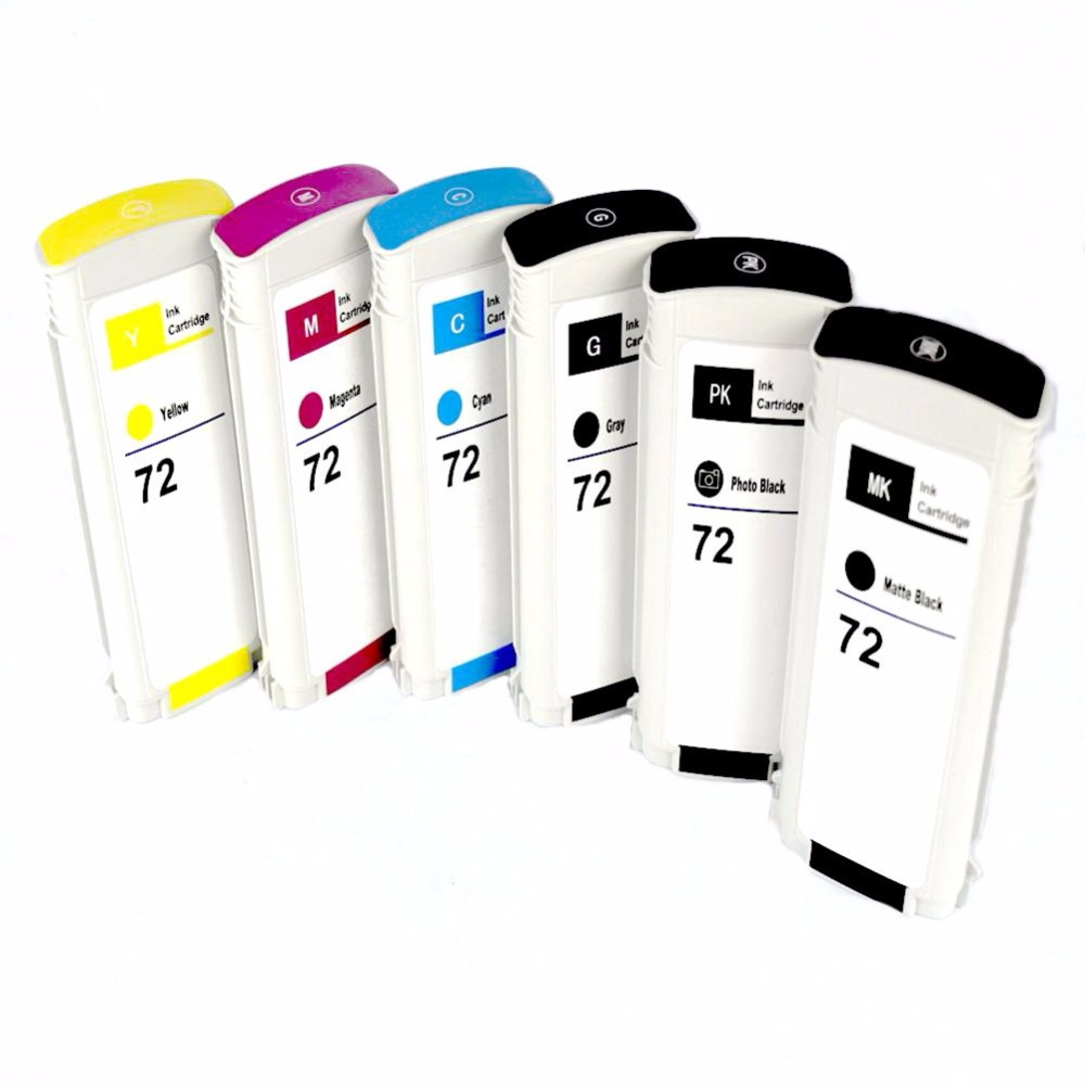Jiinghuang Full Compatible Ink Cartridges For HP 72 Designjet T610 T770 T795 T1100 T1120 T1200 T1300 T2300 printers