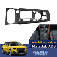 ABS Interior Mouldings For Audi Q2 2017 2019 Low Mach Car Gear Box Frame Sequins Internal Accessories Decoration Stickers