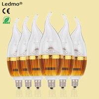 LEDMO LED Candelabra Bulb LED Candle Bulbs E12 3W 25W Equivalent Warm White 3000K 270LM CRI80
