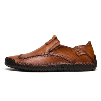 d1b24f9b6bdbce Men's Driving Shoes 2019 Men Genuine Leather Loafers Shoes Fashion Handmade  Soft Breathable Moccasins Flats Slipe On Shoes 38-48 حذاء – TalaPco - طلبكو
