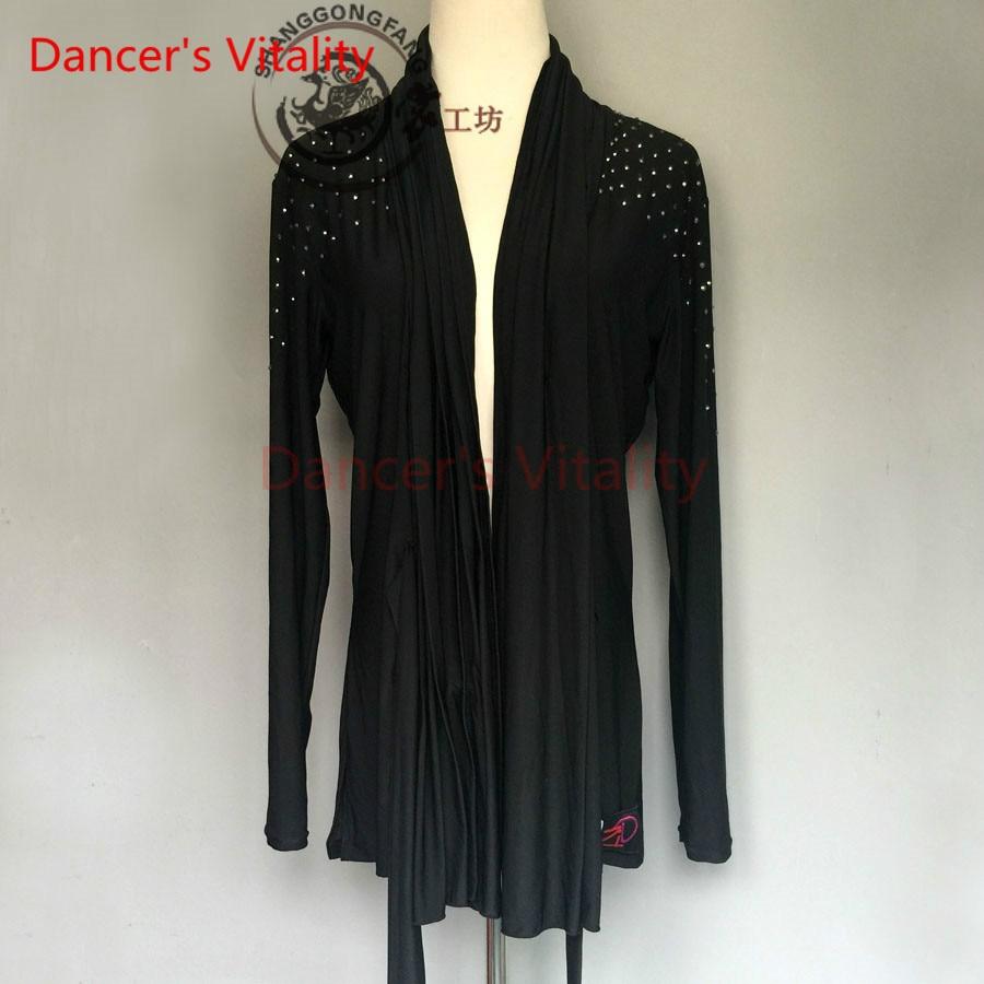 Dancer's Vitality 2017 New Brand Diamond Long Sleeves Latin Dance Dress Men's Salsa Samba Tango Cha-Cha Dancing Dress For Kids