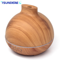 TSUNDERE L Essential Oil Diffuser Air Humidifier 300ml Household Silent Cleaner Wooden Fragrance Machine Used