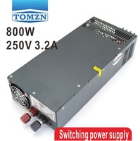 800W 0V TO 250V 3.2A Single Output Switching power supply AC to DC 110V or 220V