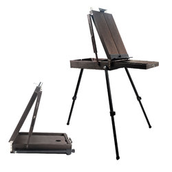 Conda French Easel & Sketch-box Adjustable Artist Craft Folding Durable Sketch Painting Portable-Ideal for Painting, Sketching
