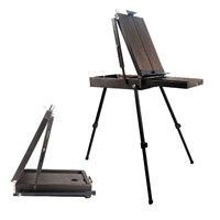 Conda French Easel & Sketch box Adjustable Artist Craft Folding Durable Sketch Painting Portable Ideal for Painting, Sketching