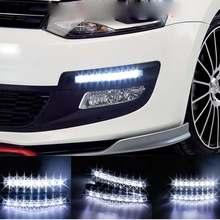 High Quality 1pc Car External Light 8 LED Super Bright Car DRL Daytime Running Light Daylight Bulb Head Lamp White Hot Item