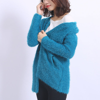 2016 New Autumn Winter Knitted Cardigans Sweater Coat Fashion Casual Long Mohair Cardigans