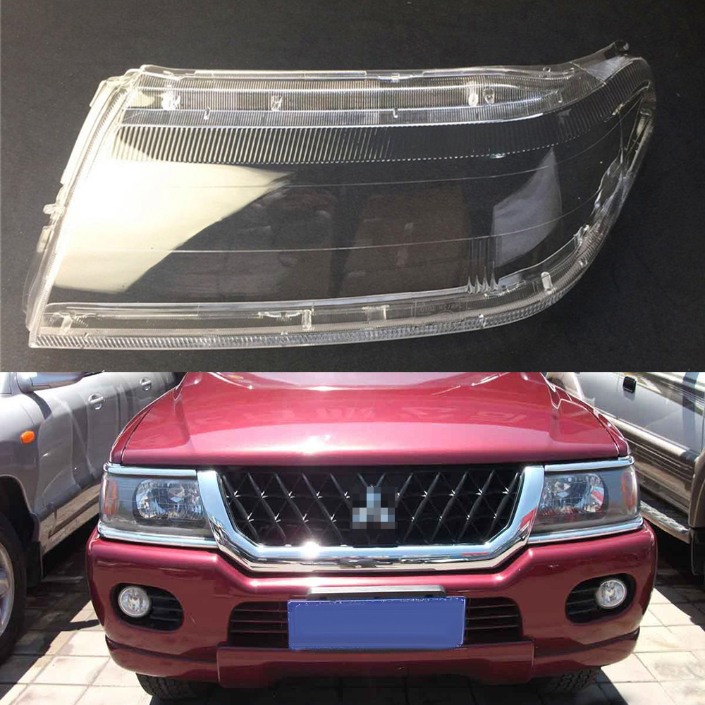 For Mitsubishi Sport Pajero Race Car Headlight Headlamp Clear Lens Auto Shell Cover