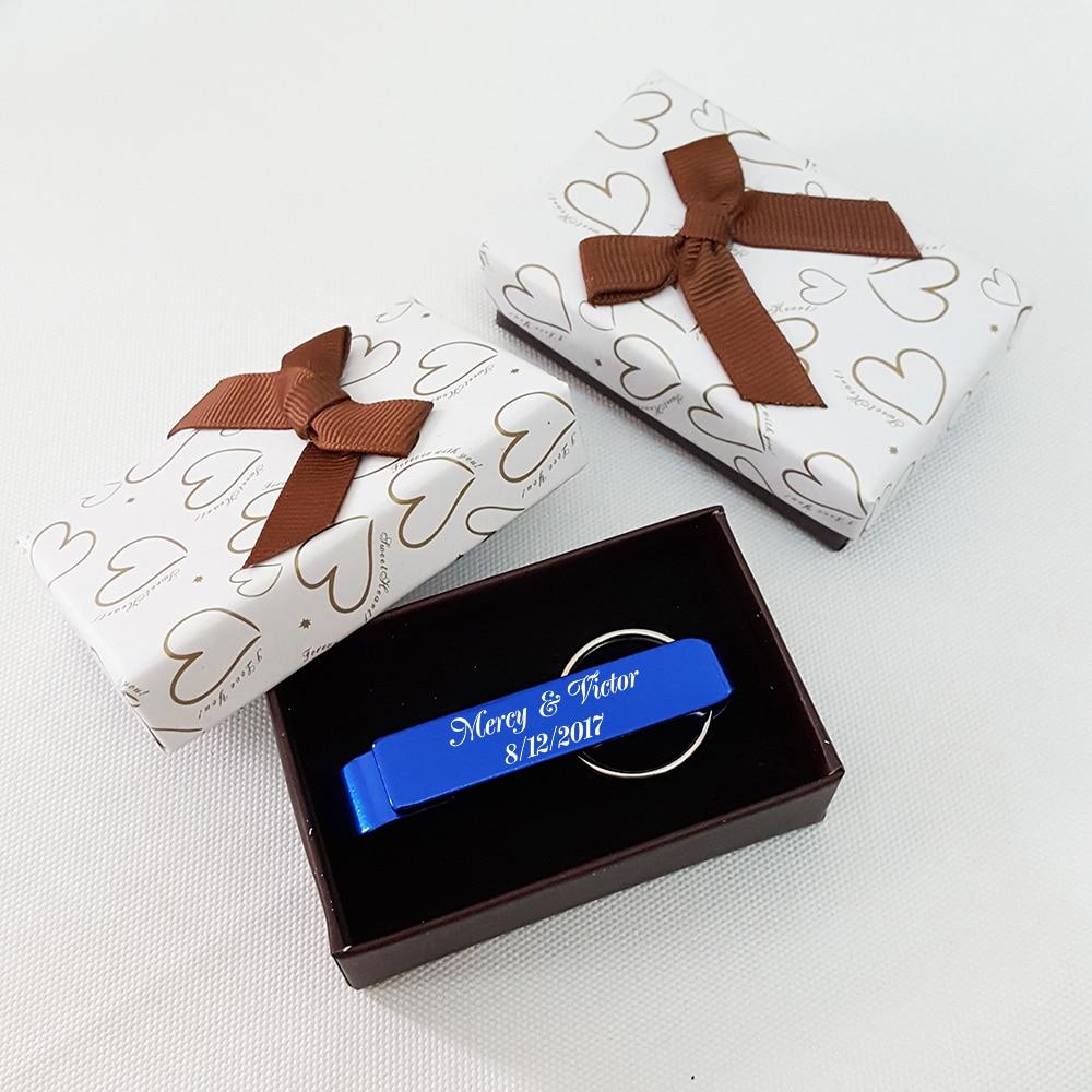 Personalized Wedding Favor Blue Bottle Opener Keychain Birthday ...