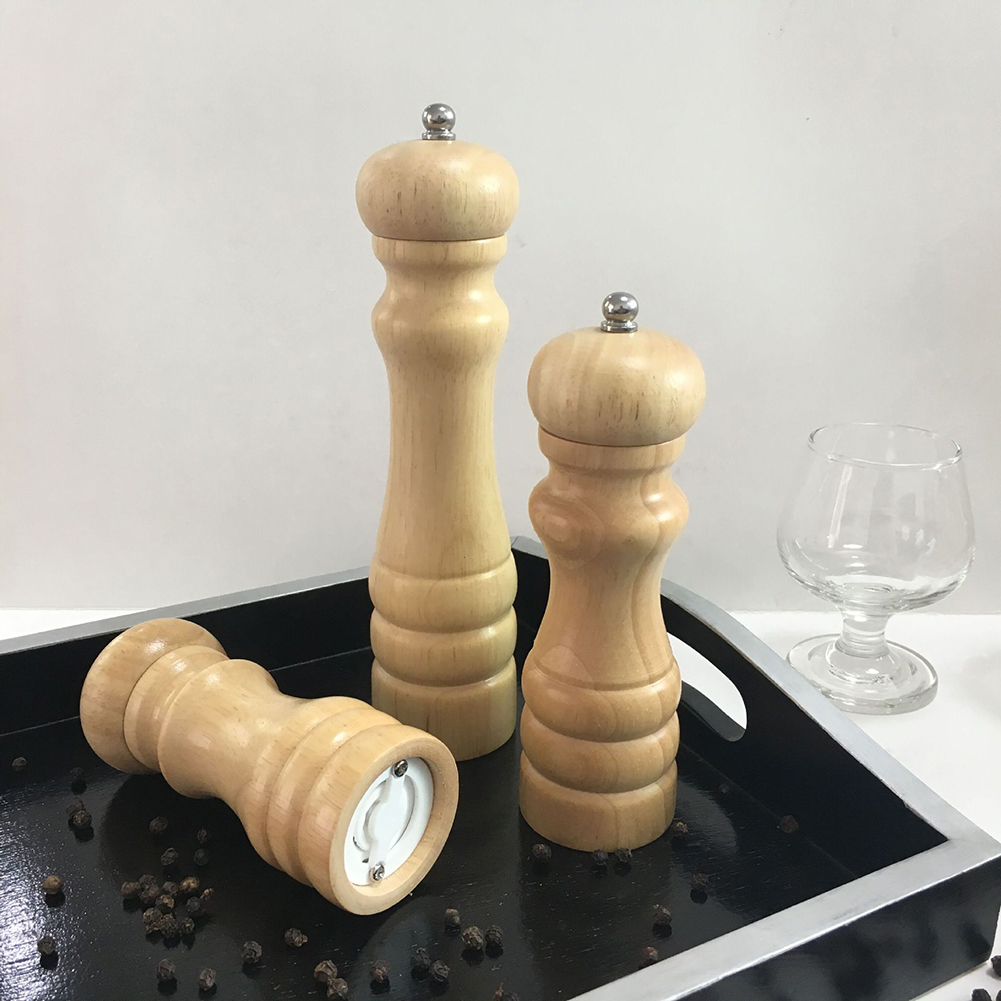Practical Wooden Pepper Grinder Manual Spice Mill Home Kitchen Cooking Tool Useful in Mills from Home Garden