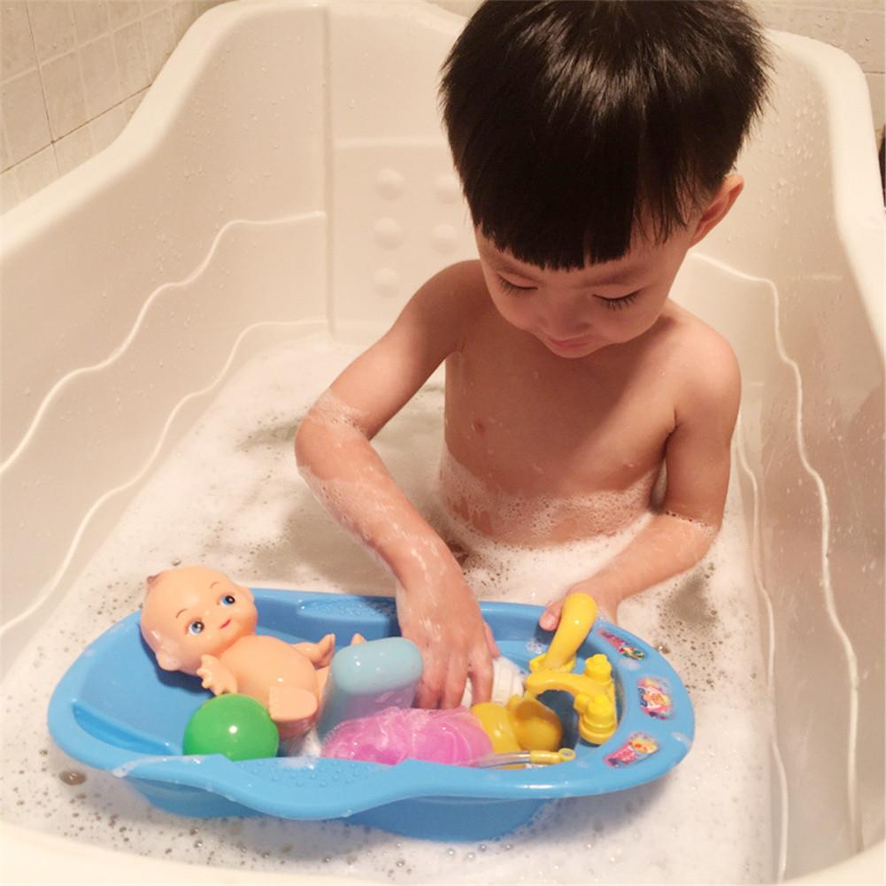 New Bathroom Water Playing Toy Bathtub Doll House Playing Little Duck Ocean Ball Toy for Baby drop shipping