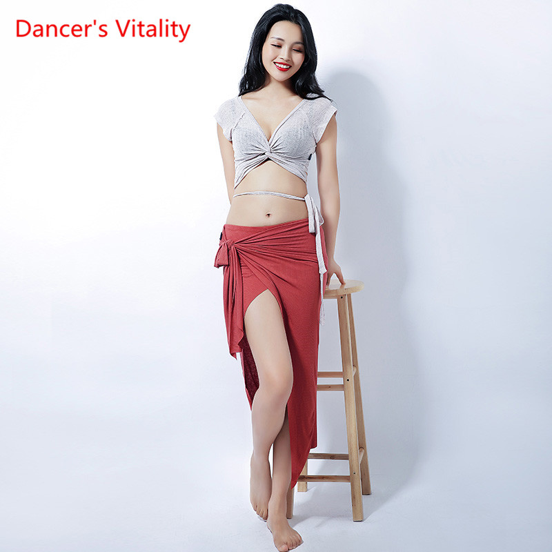 New Belly Bance Dress Women Sexy Straps Jacket Hip Scarf Sexy Belly Dance Skirt Competition Suit