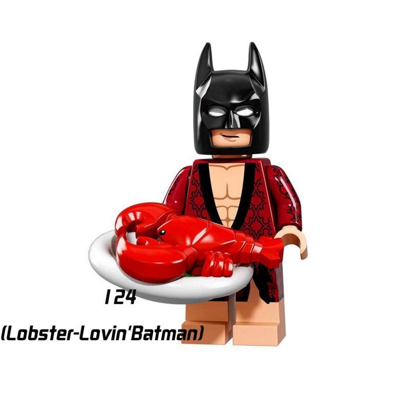 Single Sale Super Heroes Star Wars 124 Lobster Batman Building Blocks Figure Bricks Toys Kids Gifts Compatible Legoed Ninjaed