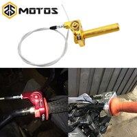 ZS MOTOS 22mm CNC Aluminum Acerbs Throttle Grip Quick Twister + Throttle Cable CRF50 70 110 IRBIS 125 250 Dirt Bike Motorcycle
