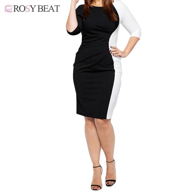 US $17.88 49% OFF|Women Bodycon Vestidos Dresses 6XL Plus Size Lady Summer  Dress 5XL Maxi Patchwork Clothing Full Figure 4XL Clothes 3XL Black-in ...