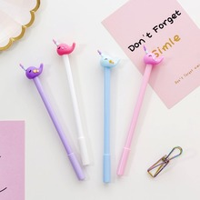4pcs Cartoon Unicorn Cute whale gel pen Love Star Moon 0.5mm black color pens for writing gift Stationery school supplies F490