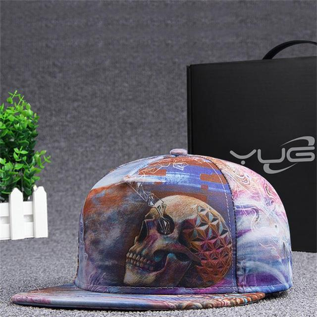 Brands 3D Color Printing Buddha pattern Men Women Sports Hat Hats Baseball Cap Fashion trends Hip Hop flat brimmed hat fashion