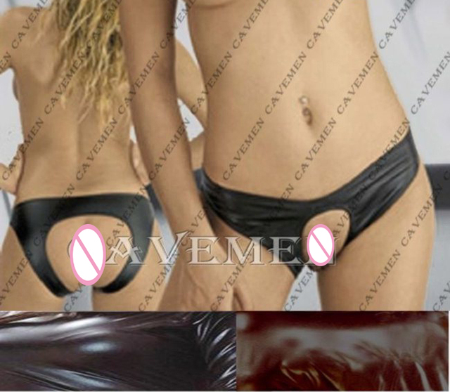 Leatherwear No crotch* 2470 *Ladies G-string T-back Teddy Bikini Boxer Triangle Pajamas Skirt Suit Middle trousers Free Shipping