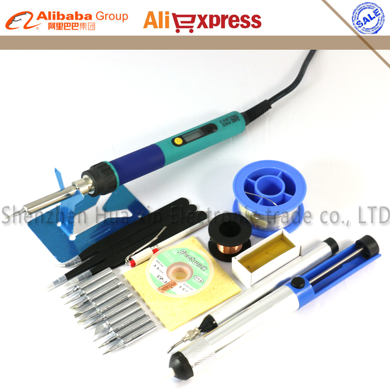 CXG EU Digital LCD Einstellbare Elektrische lötkolben 936 lötstation kit set Schweißen repair kit Pinzette/Solder spitze