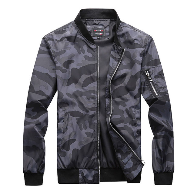 M-7XL 2019 New Autumn Men's Camouflage Jackets Male Coats Camo Bomber Jacket Mens Brand Clothing Outwear Plus Size M-7XL 2