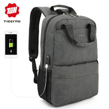 Tigernu Women Lightweight Anti Theft Backpack Male USB Trave