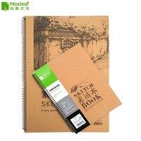 16 K A4 A3 Rocznika Rysunek Pad Sketch Book Notebook Dziennik Urzędowy Sketchbook dla Malarstwo Rysunek Kreatywny Notebook Prezent