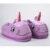 Счастливой Пасхи Пару Подарки Зима Крытый Тапочки Плюшевые Дома Единорог Обувь для Взрослых Unisex Теплые Домашние Тапочки Обувь
