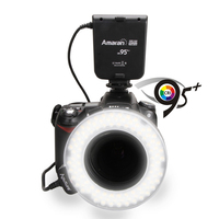 Aputure HN100 CRI 95+ Amaran Halo LED Ring Flash light For Nikon D7100 D7000 D5200 D5100 D800E D800 D700 D600 D90 DSLR Camera