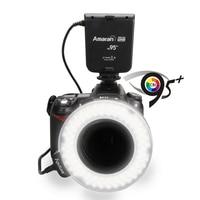 Aputure hn100 cri 95 + amaran halo led nhẫn flash light cho nikon d7100 d7000 d5200 d5100 d800e d800 d700 d600 d90 dslr máy ảnh