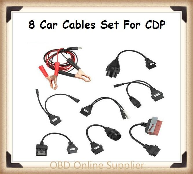 imágenes para 5 set/lote mejor 8 unids CDP Favorable cable OBD OBDII OBD II OBD2 OBD 2 herramienta de Diagnóstico de Escaneo Escáner herramientas Conector Para DELPHI DS150E