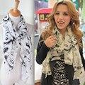 Chiffon Scarves Girls Fashion Print Bright Color Scarf Beauty Marilyn Monroe Shawl Wraps Shades Scarf  For Women B1