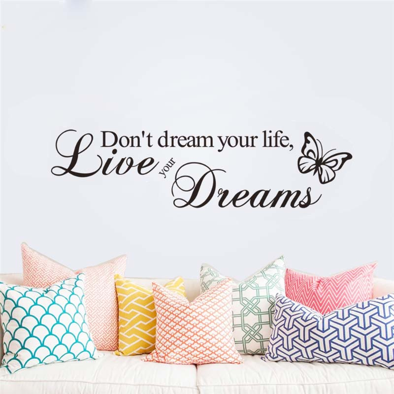 ⑤Non sognare la tua vita vivere i tuoi sogni wall stickers camera ...