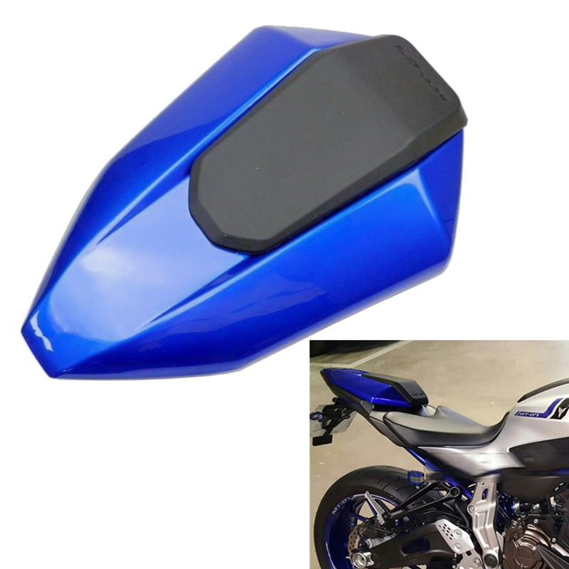 Blue Motorcycle Rear Seat Cover Cowl For 2013-2017 Yamaha FZ-07 MT-07 13 14 15 16 17 FZ07 MT07 FZ 07 MT 07 2014 2015 2016 2017 motorcyc pillion rear seat cover cowl back seat for yamaha fz07 mt07 2013 2016 2014 2015 4 c 13 14 15 16