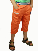 Children Kids Summer Casual Orange Pleated Short Pants Trousers Zipper Pocket Shorts Drawers New 2014 MH