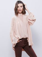 2016 Bohemian Deep V Collar Women Embroidery Shirts Hot Boho Style Fashion Long Blouses Lantern Sleeve