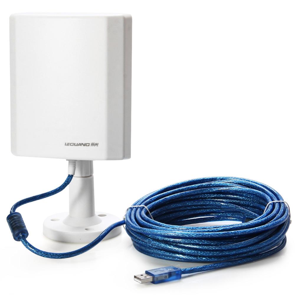 Prix pour 150 Mbps USB Longue Portée Extérieure USB Wifi Adaptateur Sans Fil jusqu'à 3000 M Points Chauds avec Antenne À Gain Élevé 5 m Câble