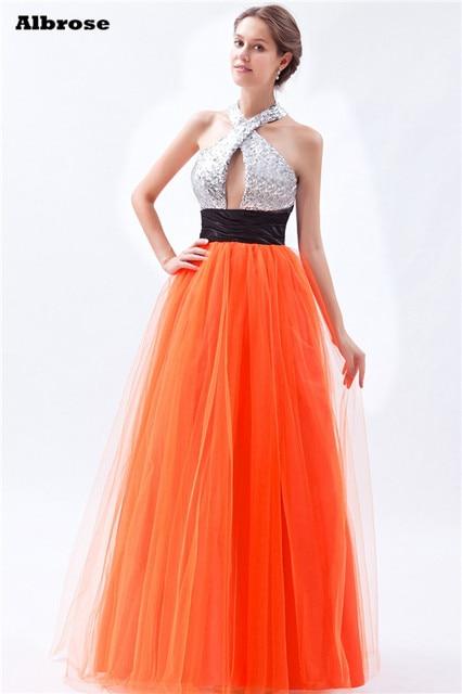 Robe soiree orange