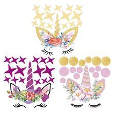 Colorful Unicorn and Stars Wall Sticker