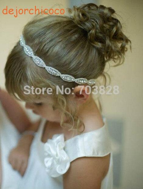 Strass Baby girls wedding shinny fasce per capelli fasce per - Abbigliamento per neonato