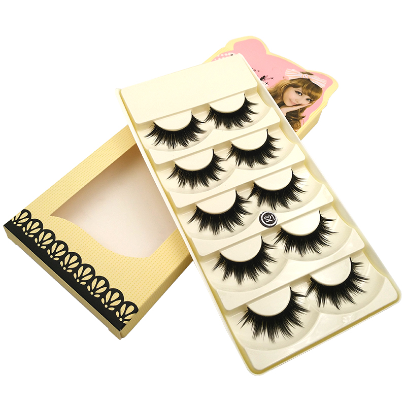 New 10 pairs Soft Women Lady Long Makeup Thick False Eyelashes for Beauty Natural Handmade Eye Lashes for Maquiagem S21*2