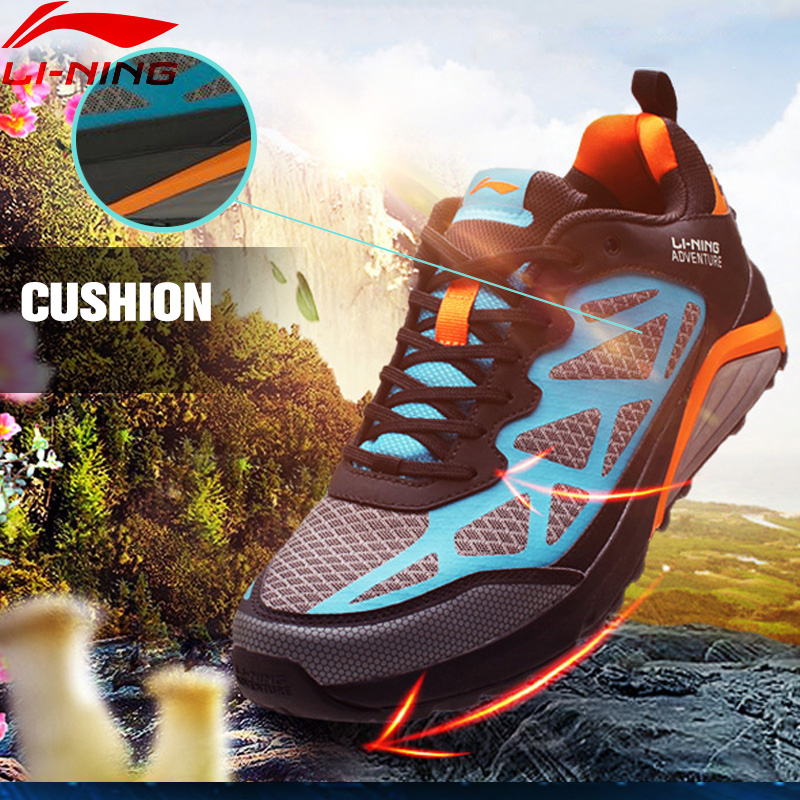 Li-Ning Adventure Cushioning Trail Running Shoes Off-road Running Sneakers For Man Outdoor Sports Shoes AHRL001 XYP464 original li ning men professional basketball shoes