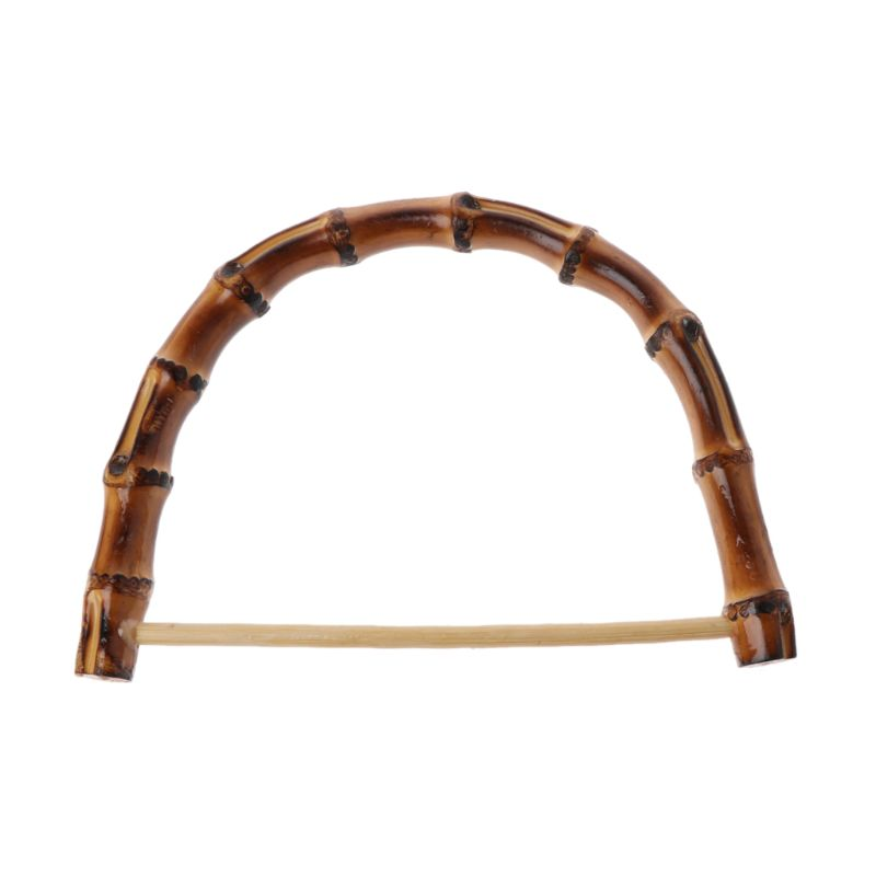1Pc Nature Bamboo Bag Handle DIY Handcrafted Handbag Frame Accessories Wooden Cane Purse Frame