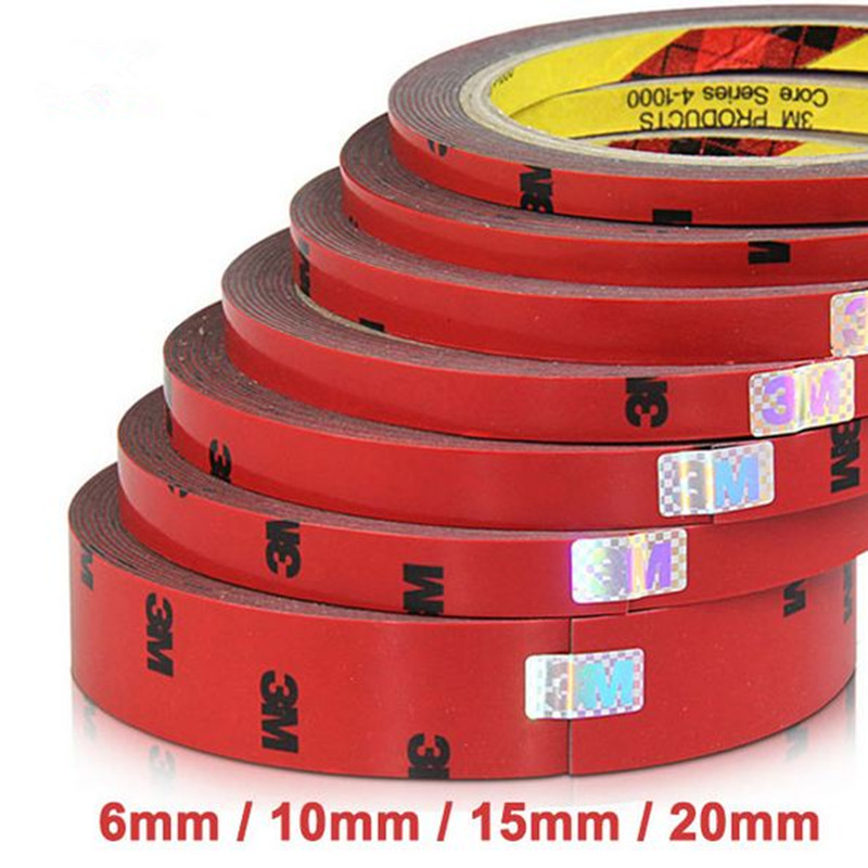 2pcs/ Lot Strong Permanent 3M Double Sided Acrylic Foam Adhesive Tape Versatile Car Auto Truck Craft 6mm 10mm 20mm